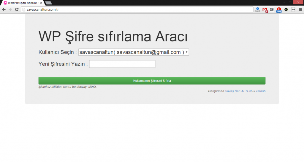 wordpress-admin-sifresi-sifirlama
