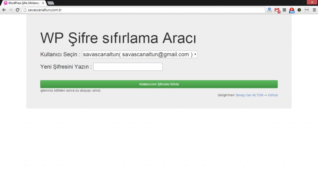 wordpress-admin-sifresi-sifirlama